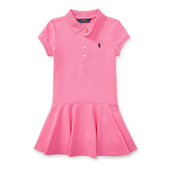 Ralph Lauren Short-Sleeve Polo Dress Pink 6
