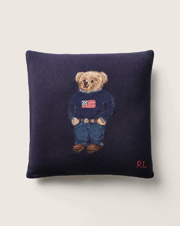 Cuscino d'arredo Polo Bear in lana