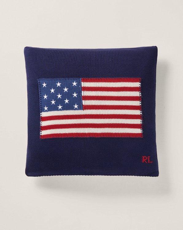 Baumwoll-Wurfkissen mit RL-Flagge