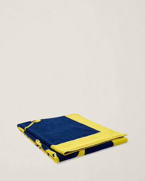 Ralph Lauren Mens Beach Towel: Ralph Lauren Home Signature Pony Beach Towel 1