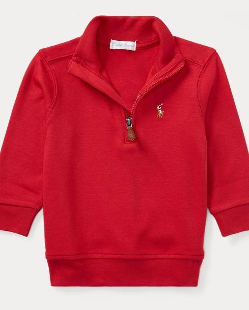 066a5c8afa06 Cotton Half-Zip Pullover