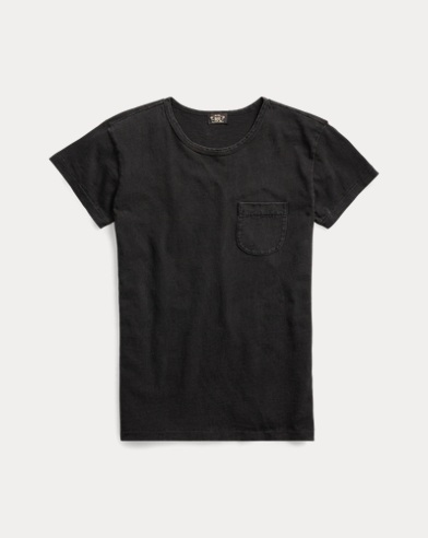 Indigo Cotton Pocket T-Shirt