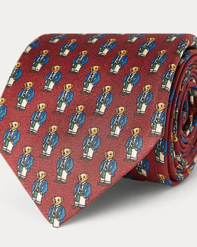Preppy Bear Silk Narrow Tie