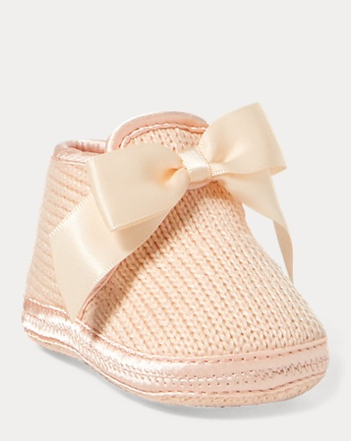 Addison Knit Slipper With Bow
