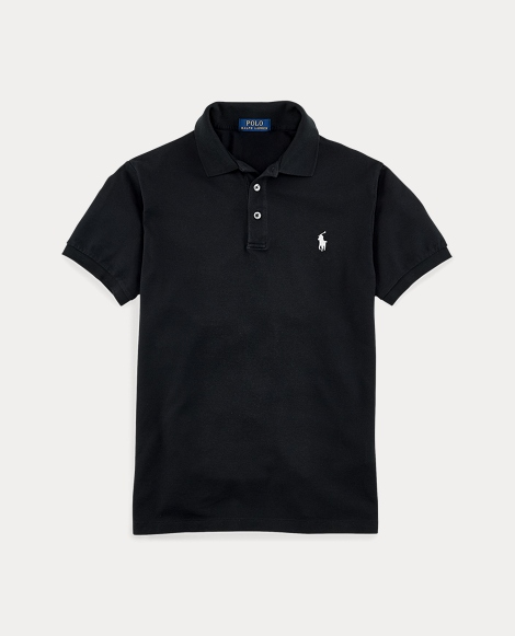 Polo in piqué stretch Slim-Fit