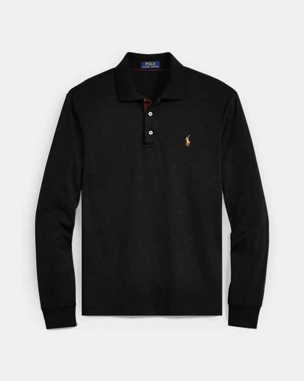 Men's Black Long Sleeve Polo Shirts | Ralph Lauren
