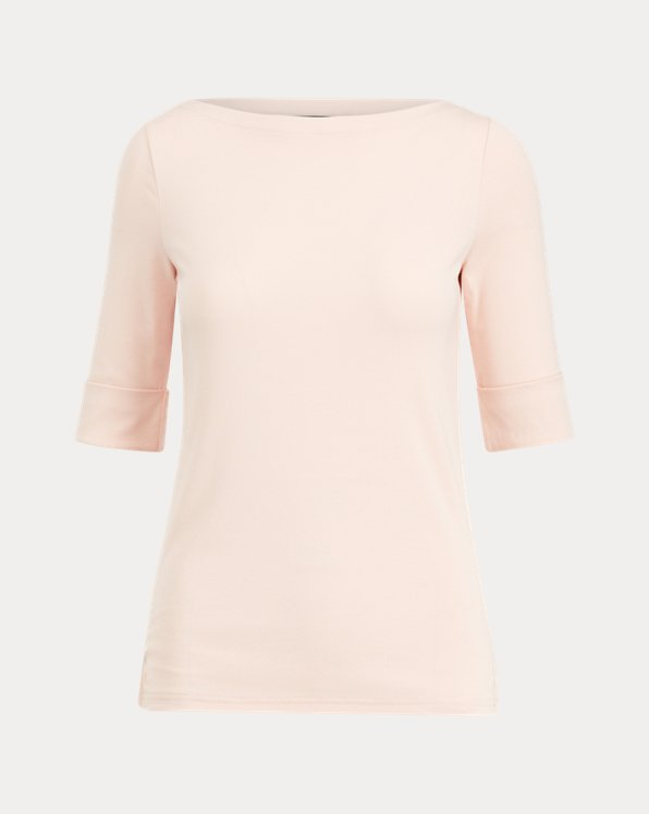 Cotton Boatneck Top