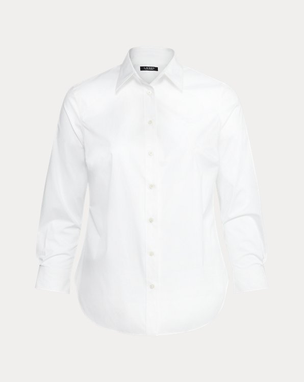No-Iron Stretch Cotton Shirt