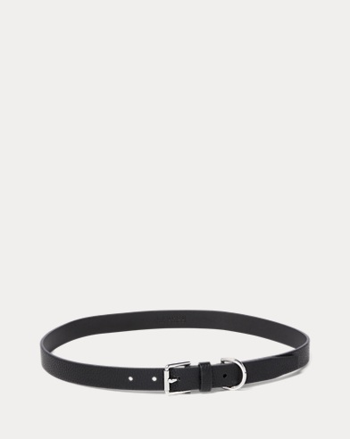 Pebbled Faux-Leather Belt