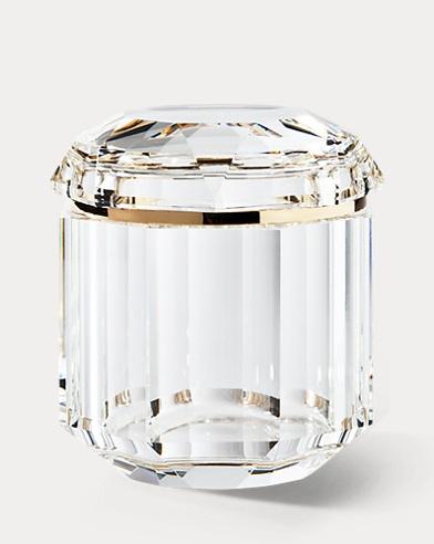 Bote de cristal transparente Leigh