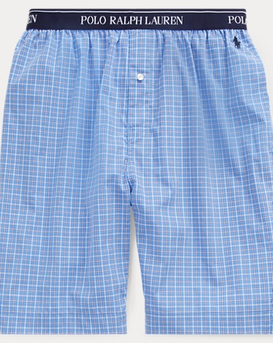 Plaid Cotton Sleep Short