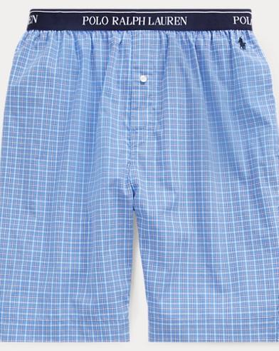 Karierte Pyjamashorts aus Baumwolle