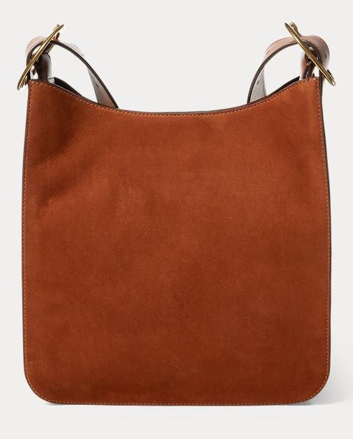 fee2ad6c66 Polo Ralph Lauren Nubuck Lennox Messenger Bag 1