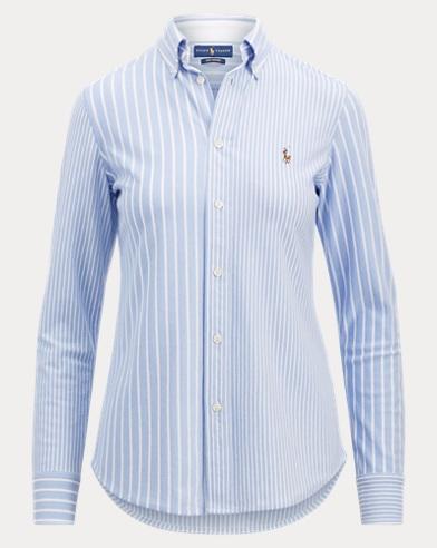 Multi-Stripe Knit Oxford Shirt