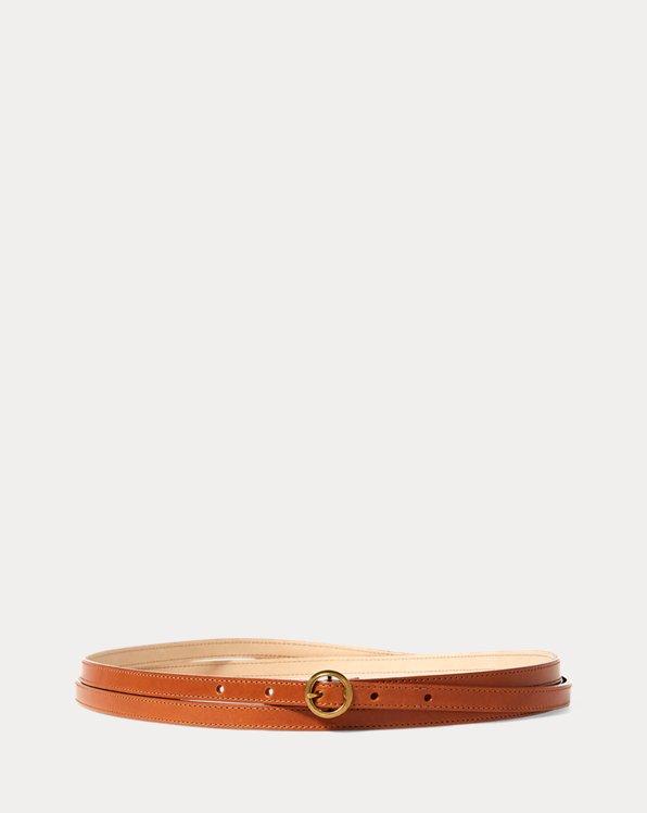 Lennox Leather Skinny Belt