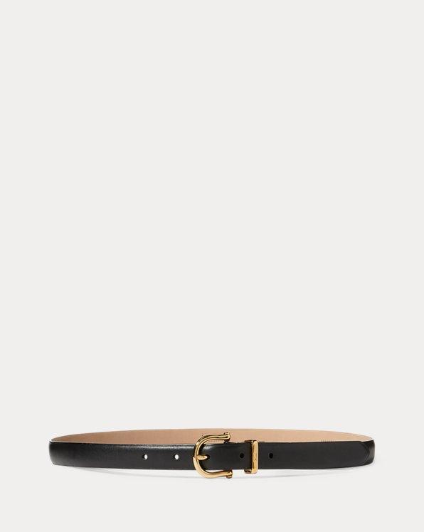Nappa Leather Skinny Belt