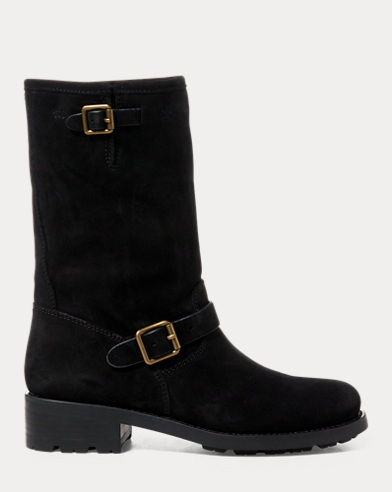 Darcie Oiled Suede Moto Boot
