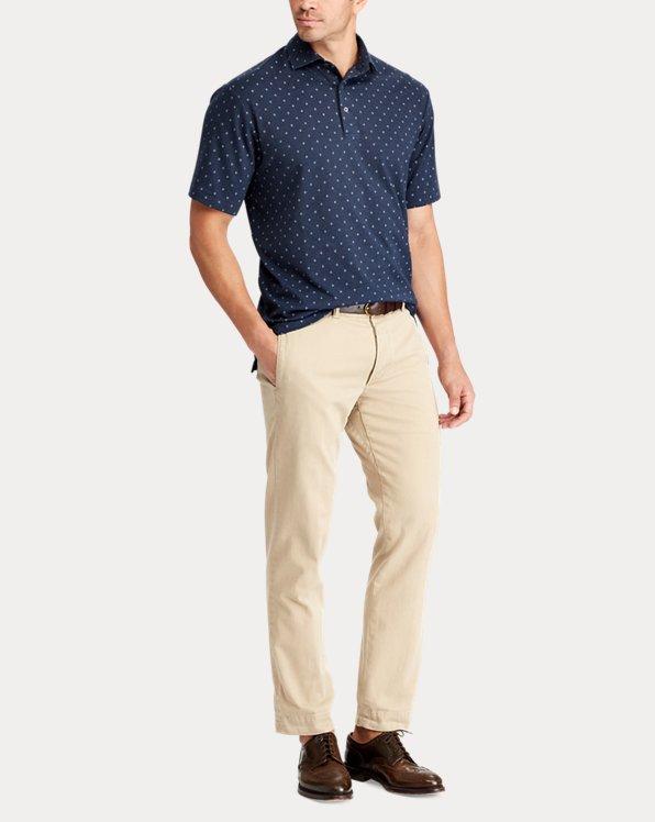 Print Soft Cotton Polo Shirt