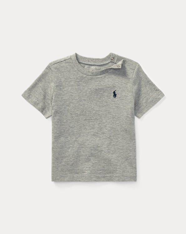 Maglietta a girocollo in jersey di cotone