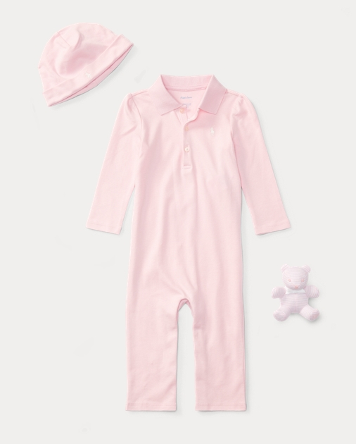 1a75bec7 Polo Coverall, Hat & Bear Set