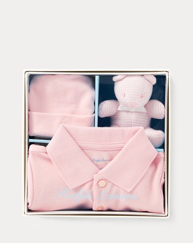 Polo Coverall & Hat & Bear Set