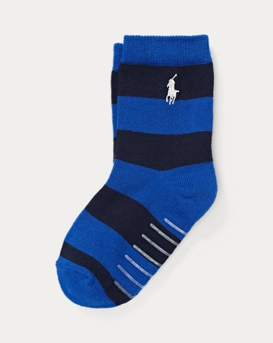 Rugby Striped Crew Socks