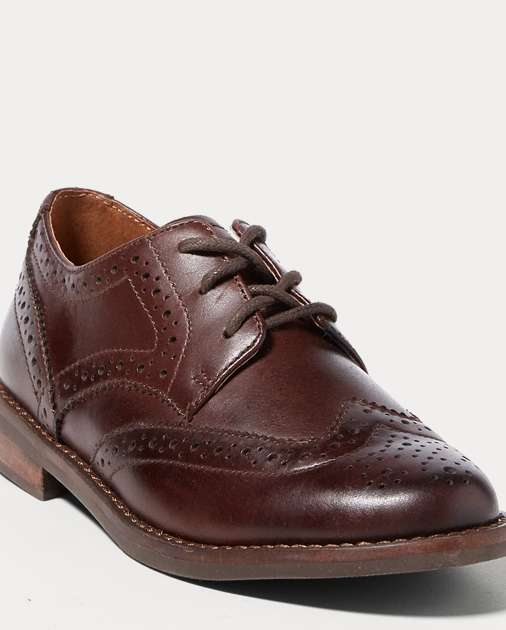 Child Leather Wingtip Oxford Shoe 2