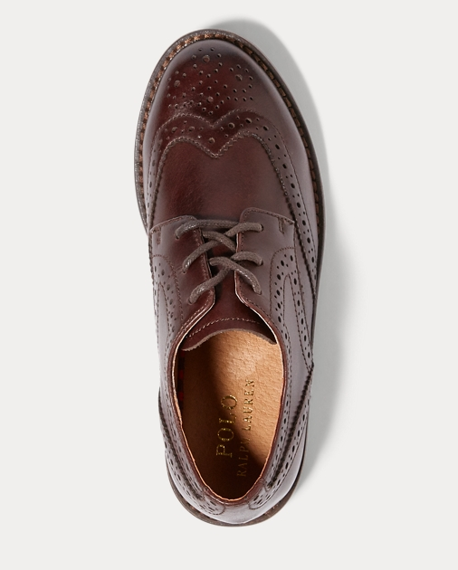 Child Leather Wingtip Oxford Shoe 3
