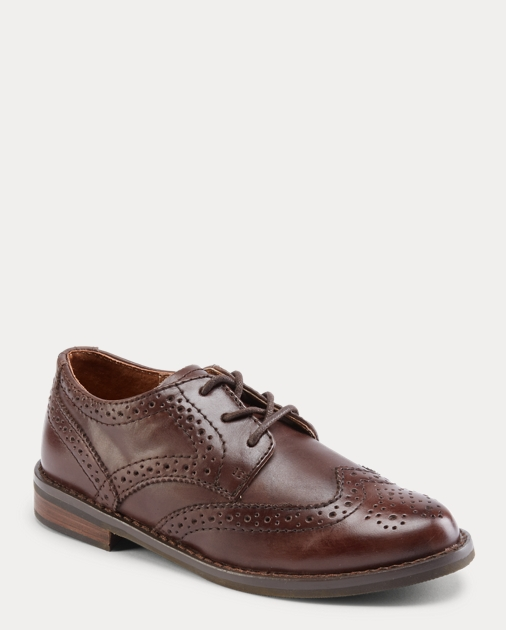 Child Leather Wingtip Oxford Shoe 5