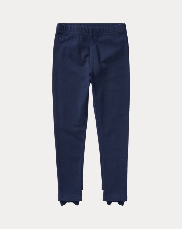 폴로 랄프로렌 여아용 레깅스 Polo Ralph Lauren Bow-Back Jersey Legging,French Navy