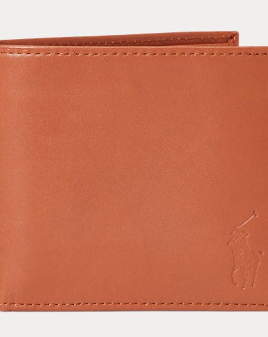 Polo Ralph Lauren. Star-Spangled Leather Wallet. $125.00. Leather Billfold  Wallet