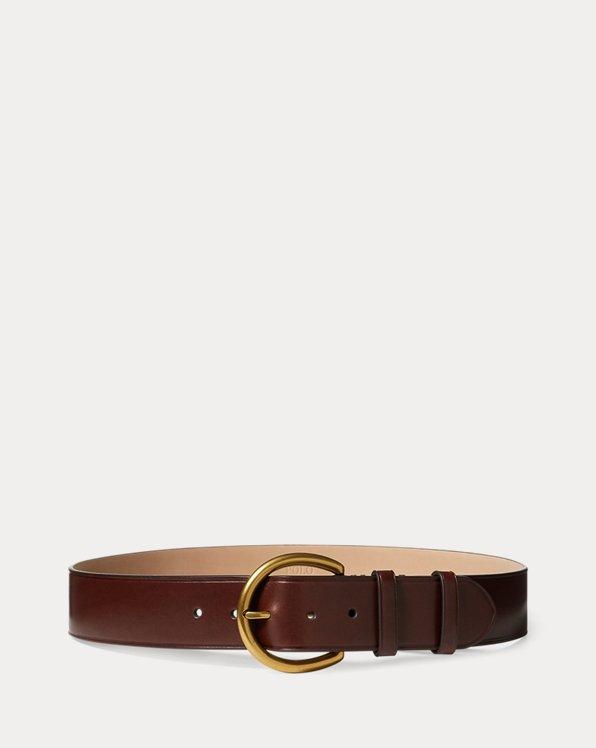 Cinturón ancho de piel vachetta