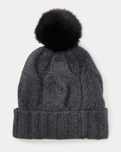 b67f3eee88793d Rope Cable-Knit Pom-Pom Hat. Polo Ralph Lauren