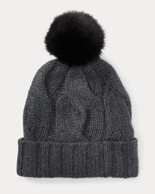 7c353b6baac Polo Ralph Lauren Rope Cable-Knit Pom-Pom Hat 1