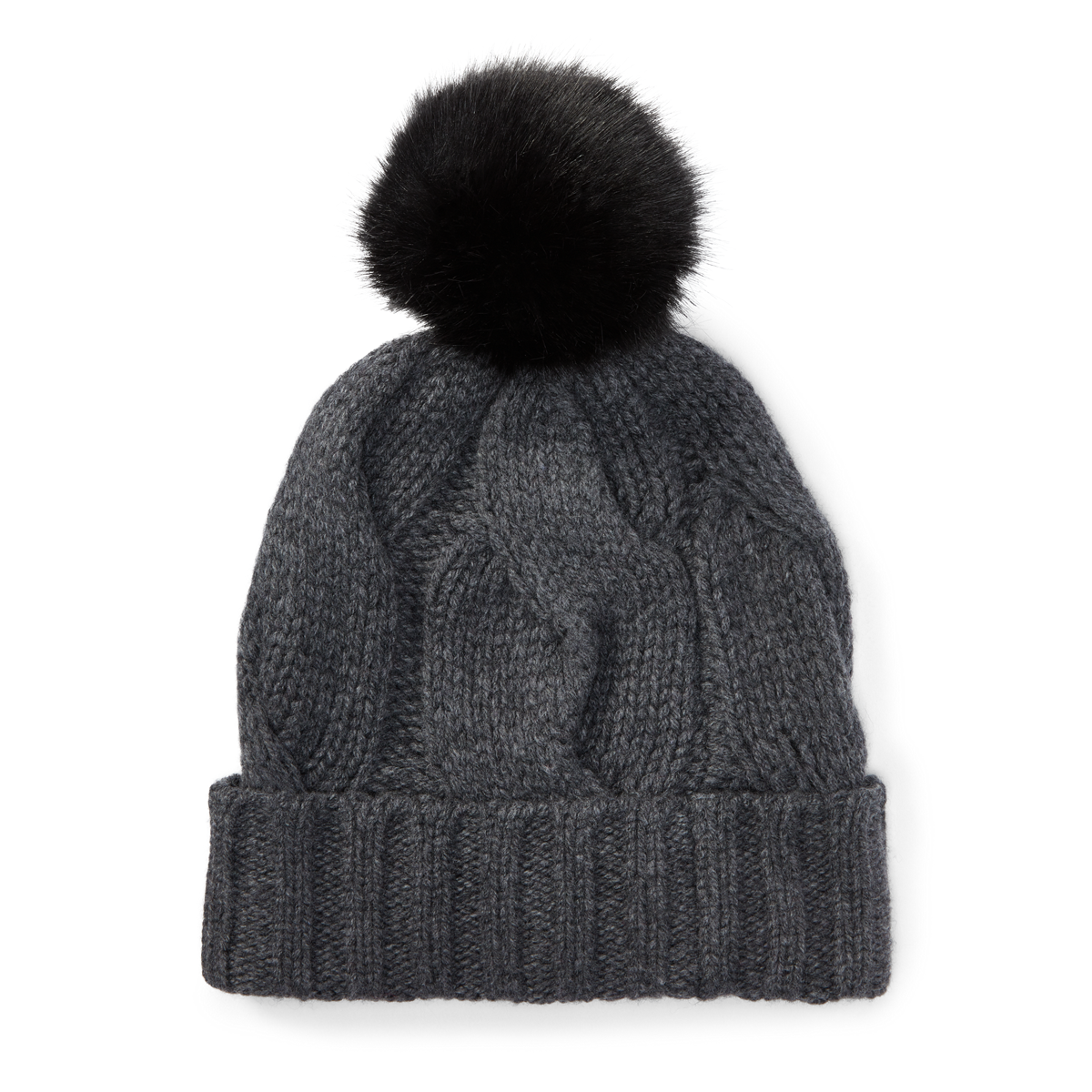 249eefd50df Rope Cable-Knit Pom-Pom Hat