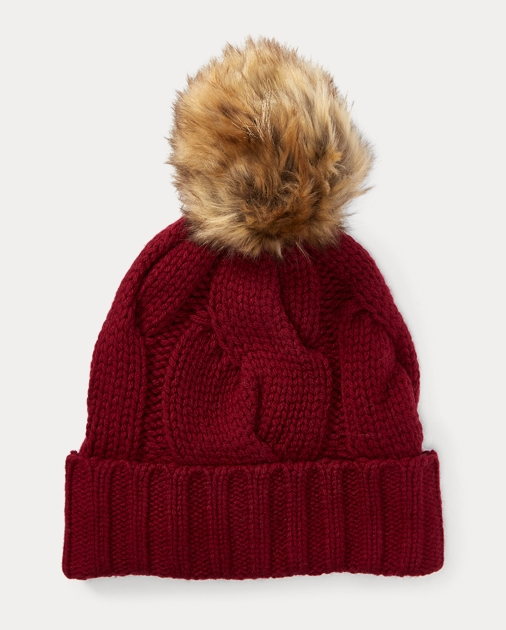 86caf39a16b Polo Ralph Lauren Rope Cable-Knit Pom-Pom Hat 1