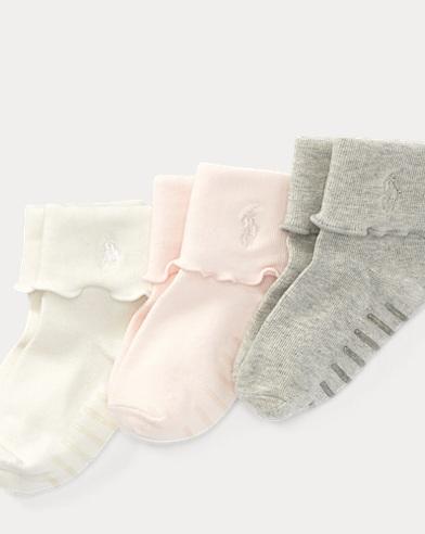 Fold-Over-Cuff Sock 3-Pack
