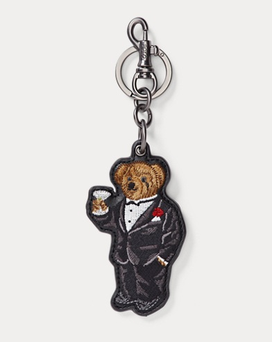 Polo Bear Leather Key Fob