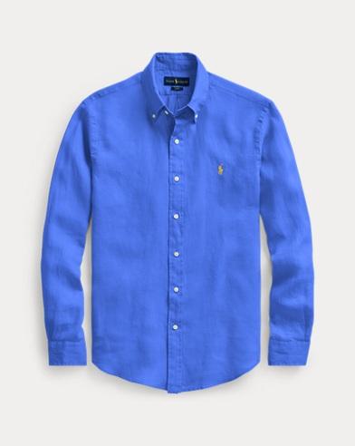 Camicia sportiva in lino Slim-Fit