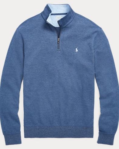Cotton-Blend Half-Zip Pullover