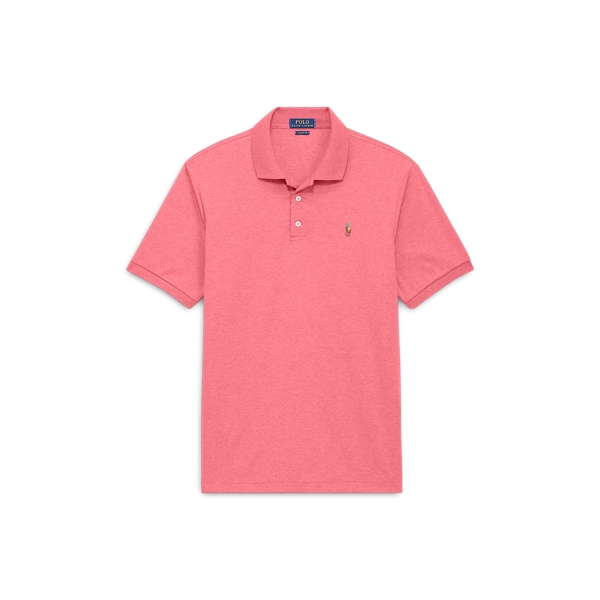 Ralph Lauren Classic Fit Soft-Touch Polo Salmon Heather 1X Big