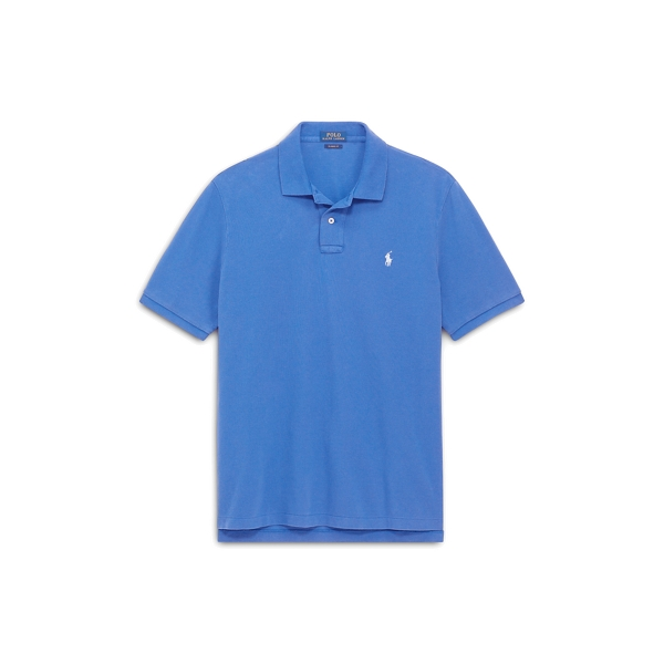 Ralph Lauren Custom Slim Fit Mesh Polo Provincetown Blue L
