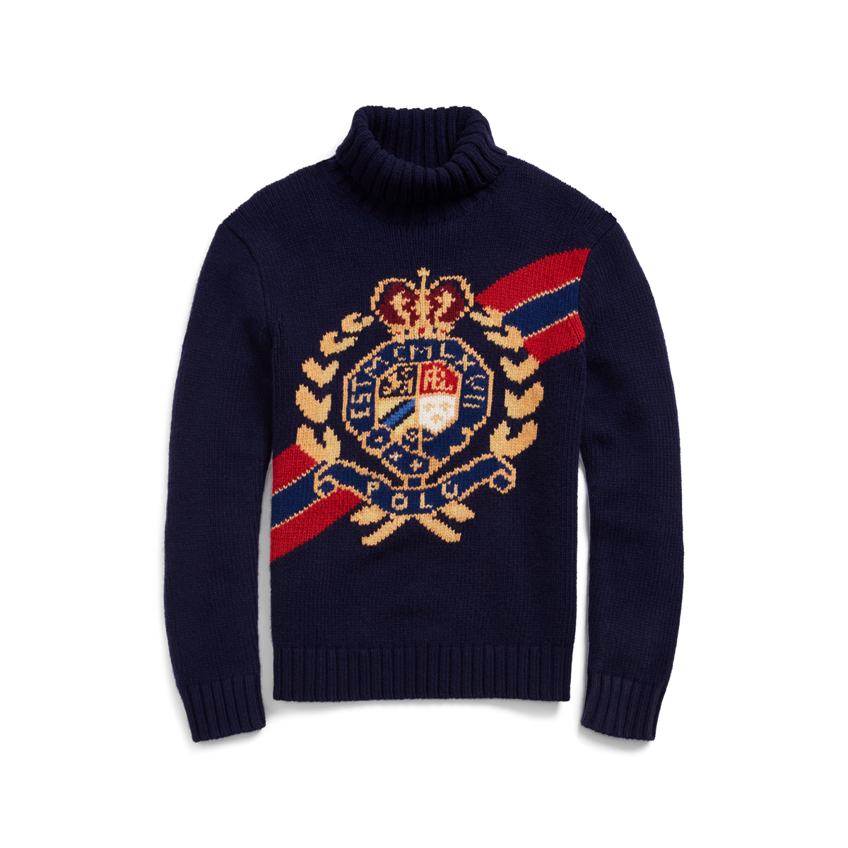ec38ab744c7c5 Intarsia-Knit Wool Sweater