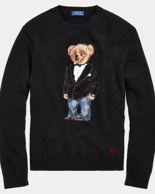 457883a1e26 Tuxedo Bear Wool Sweater