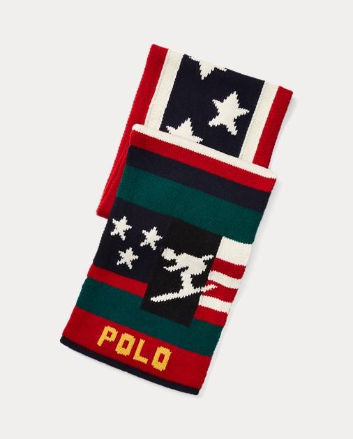 9ca5d38433b Polo Ralph Lauren Ski Merino Wool-Blend Scarf 1