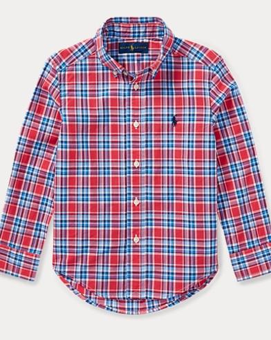 Plaid Cotton Poplin Shirt