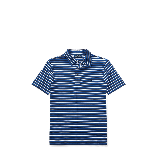 Ralph Lauren Featherweight Cotton Mesh Polo Newport Navy Multi M
