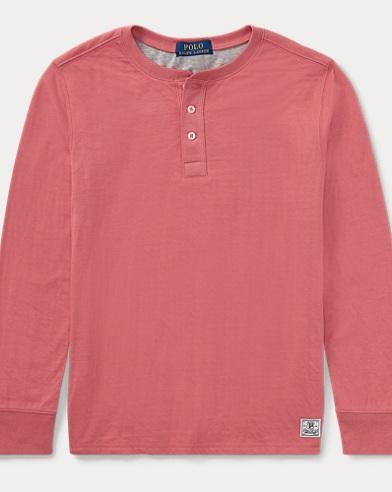 Henley-Shirt aus Baumwolle