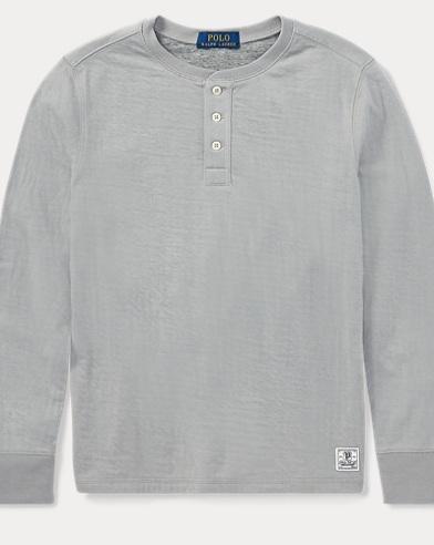Maglietta serafino in misto cotone