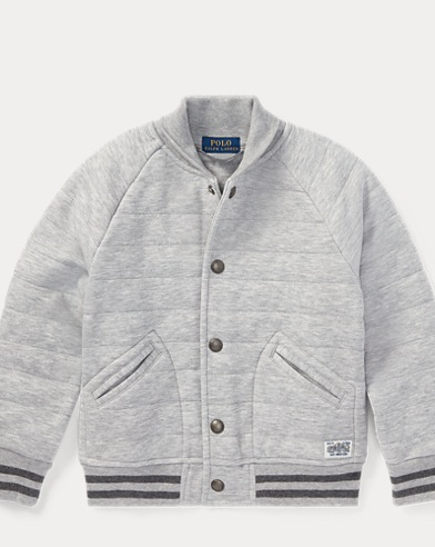 Double-Knit Baseball Jacket